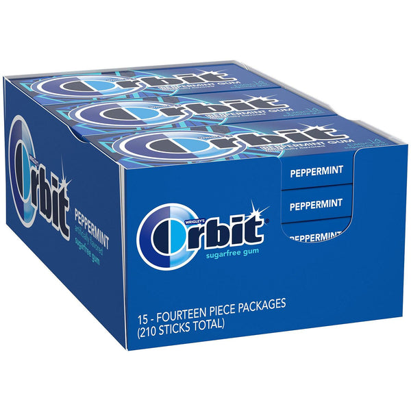 Orbit Peppermint Sugar-Free Gum (14 ct., 15 pks.) (Min 2 per order)