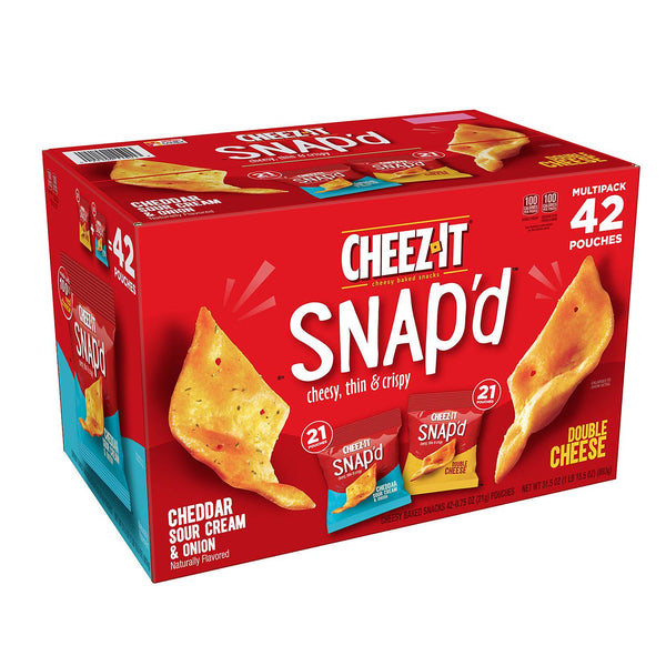 Cheez-It Snap'd, Variety Pack (0.75 oz., 42 pk.)