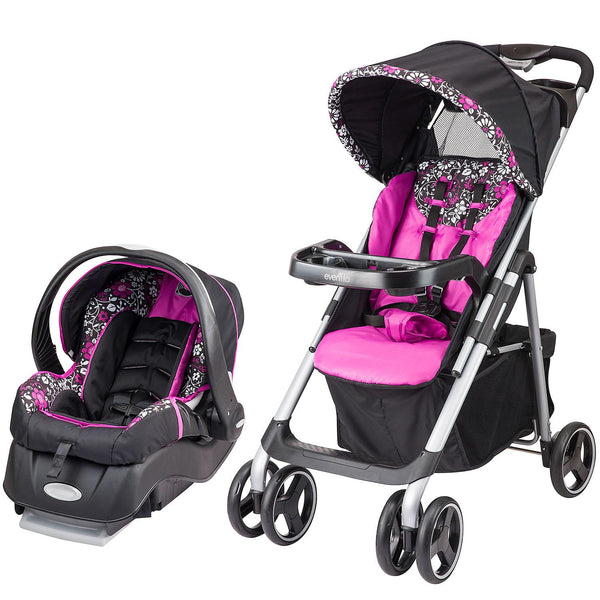 Evenflo Vive Travel System with Embrace Infant Car Seat (Daphne)