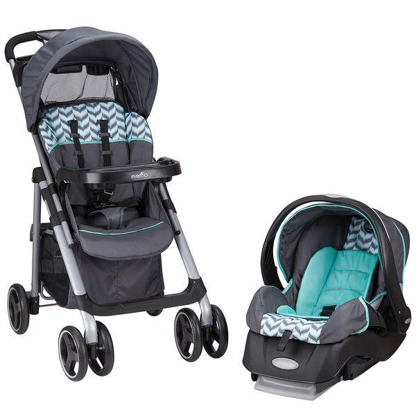 Evenflo Vive Travel System with Embrace Infant Car Seat (Spearmint Spree)