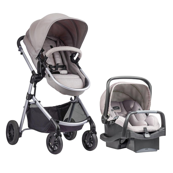 Evenflo Pivot Modular Travel System with SafeMax Car Seat (Sandstone)