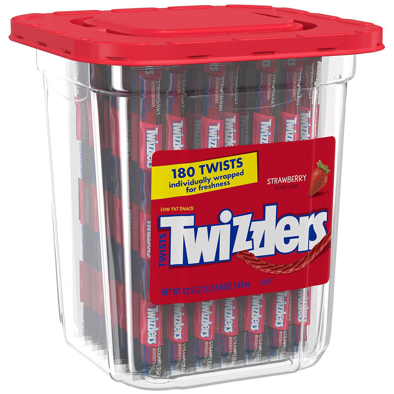 Twizzlers Twists Strawberry Flavored Candy (57.5 oz., 180 ct.)(Min 2 per order)