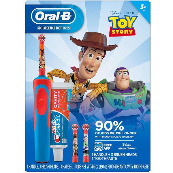 Oral-B Kid's Toy Story 4 Electric Toothbrush and Crest Sparkle Fun Toothpaste