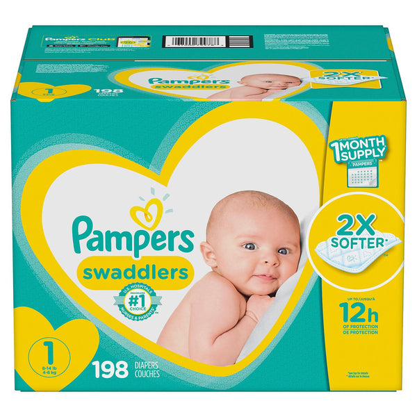 Pampers Swaddlers Diapers (Size 1)