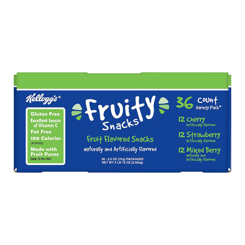 Kellogg's Fruity Snacks Variety Pack (2.5 oz., 36 ct.)