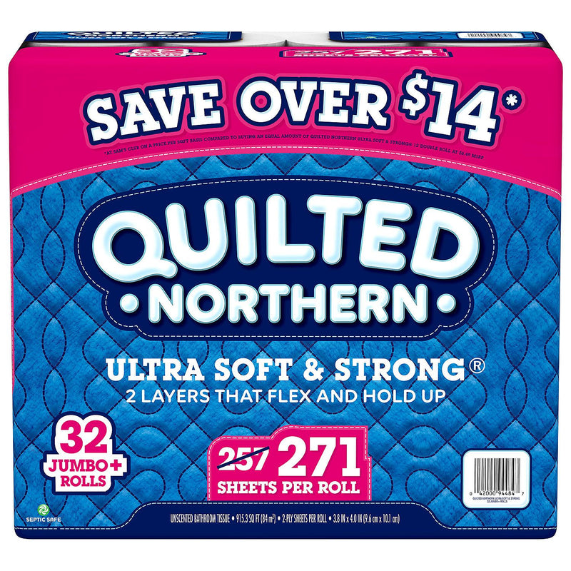 Quilted Northern Ultra Soft & Strong Toilet Paper (32 rolls, 271 sheets/roll)