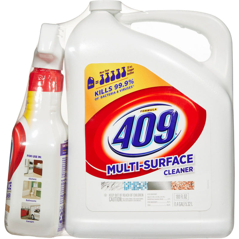 Formula 409 Multi Surface Cleaner, Original Scent, 32 oz. Spray Bottle and 180 oz. Refill
