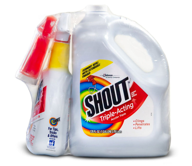 Shout Triple-Acting Liquid 1 Gallon Refill + 32 oz. Trigger