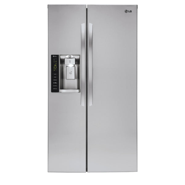 LG 26 cu. ft. Side-by-Side Refrigerator with Ice and Washer Dispenser