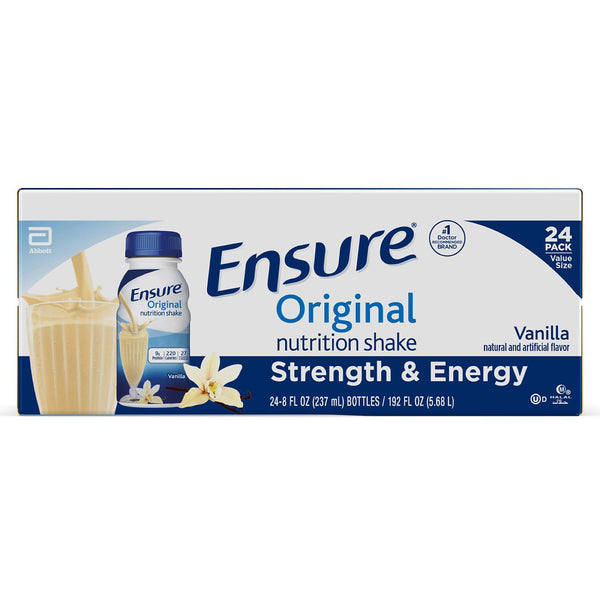 Ensure Original Nutrition Vanilla Meal Replacement Shakes with 9g of Protein (8 fl. oz., 24 ct.)