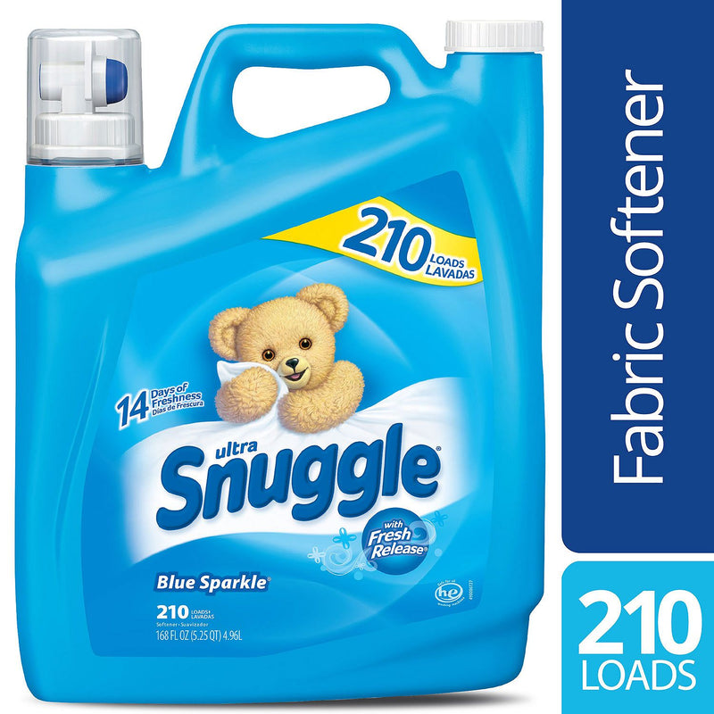 Snuggle Blue Sparkle Fabric Softener (168 oz., 210 loads)