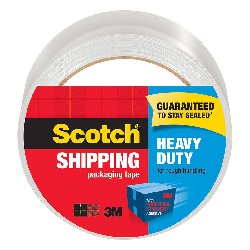 Scotch Heavy Duty Shipping Packaging Tape, 1.88 in x 60.15 yd, 6 Pack