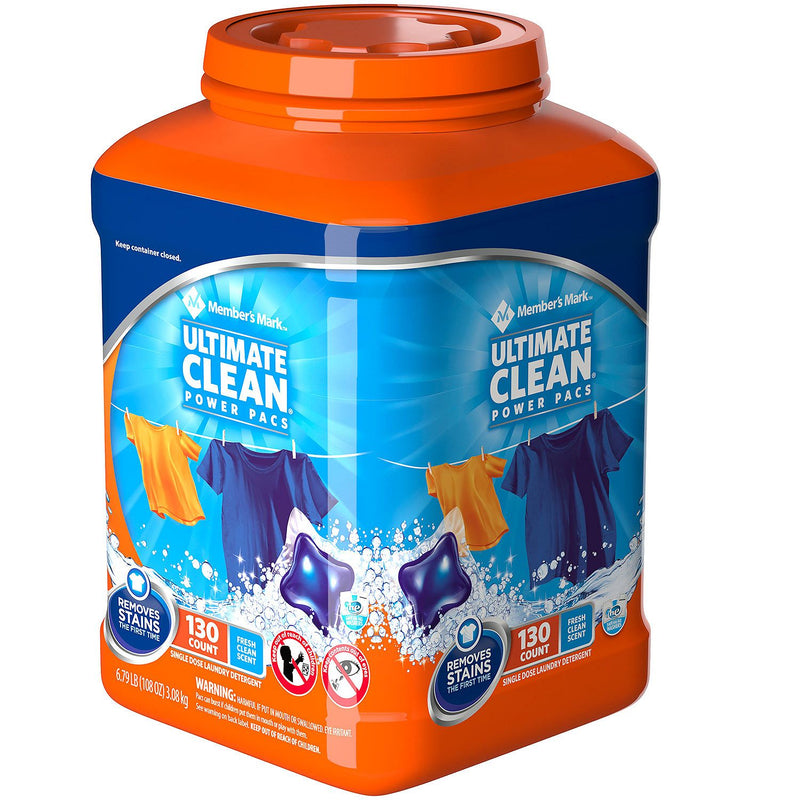 Member's Mark Ultimate Clean Laundry Detergent Power Pacs (130 loads)
