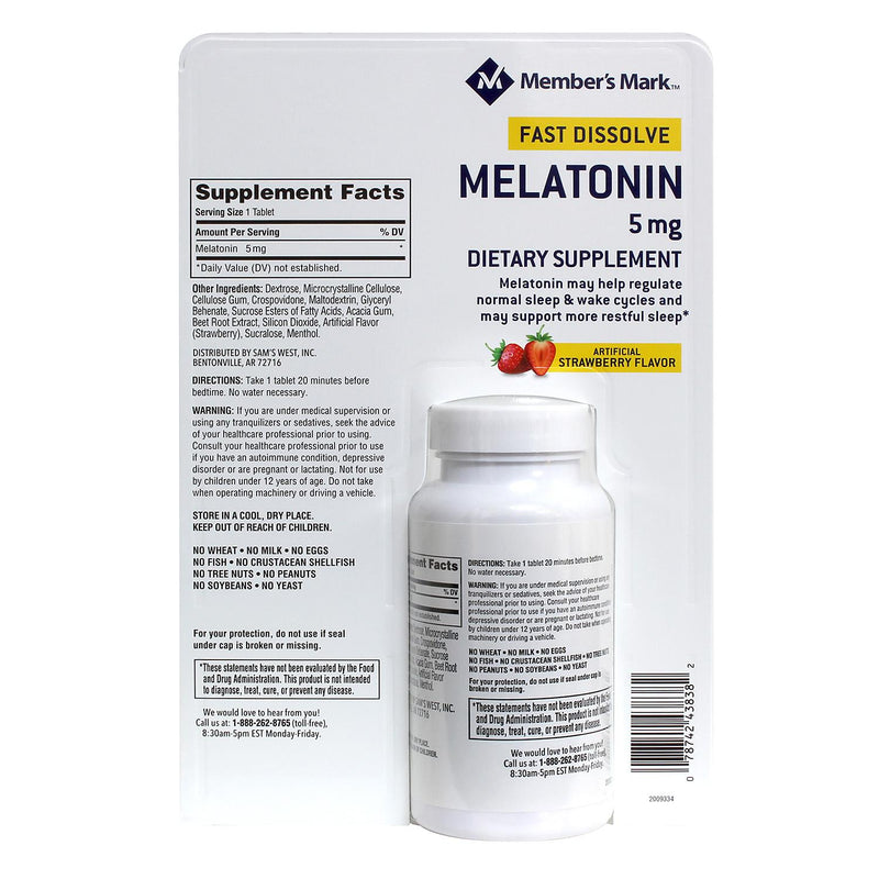 Member's Mark Melatonin 5mg Fast Dissolve (260 ct.)