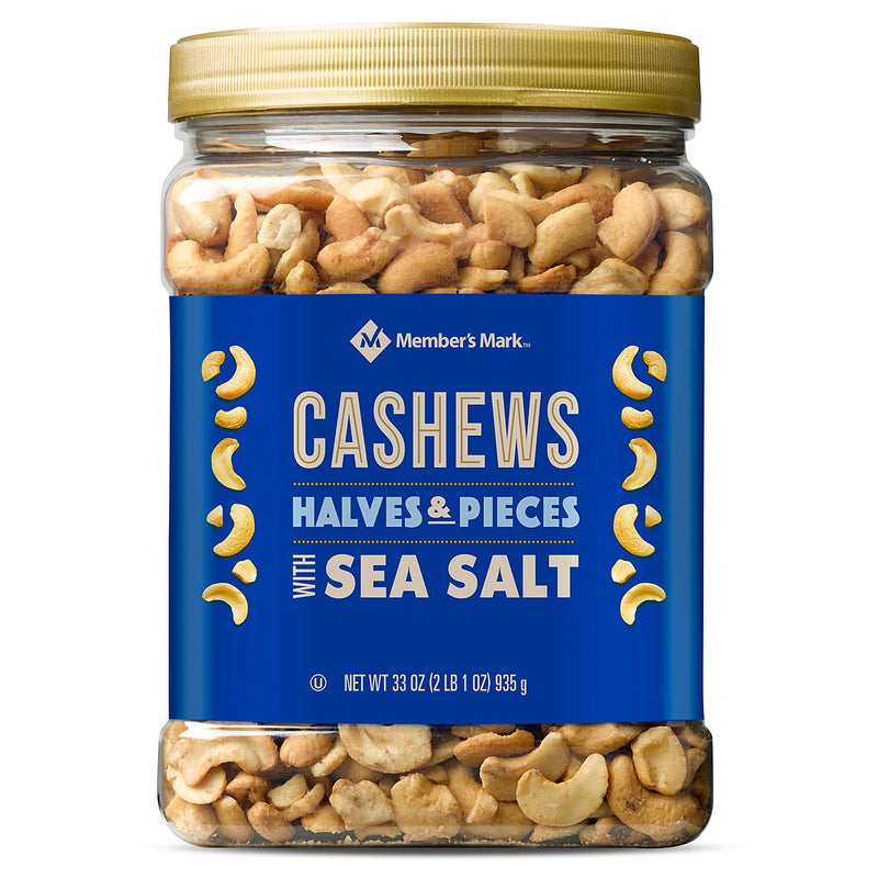 Member's Mark Cashew Halves and Pieces with Sea Salt (33 oz.)