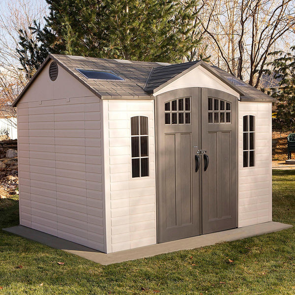 Lifetime 10' x 8' Outdoor Storage Shed with Carriage Doors