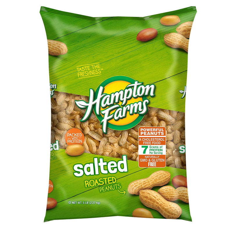 Hampton Farms Salted In-Shell Peanuts (5 lbs.) (Min 2 per order)