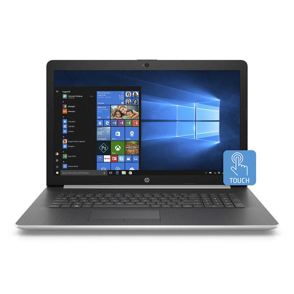 "HP Touchscreen 17.3"" HD+ Laptop, Intel Core i7-8565U, 8GB Memory, 512GB Solid State Drive, TrueVision HD Webcam, Optical Drive, 2 Year Warranty Care Pack, Windows 10 Home,  Colors: Natural Silver"