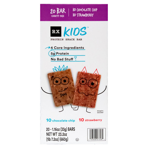 RX Kids Protein Snack Bar, Variety Pack (1.16 oz., 20 ct.)