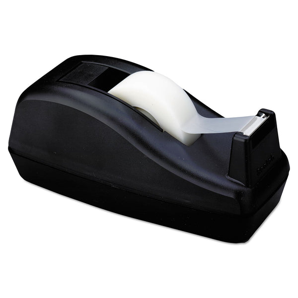 "Scotch - Deluxe Desktop Tape Dispenser, Attached 1"" Core, Heavily Weighted - Black (Min 2 per order)"