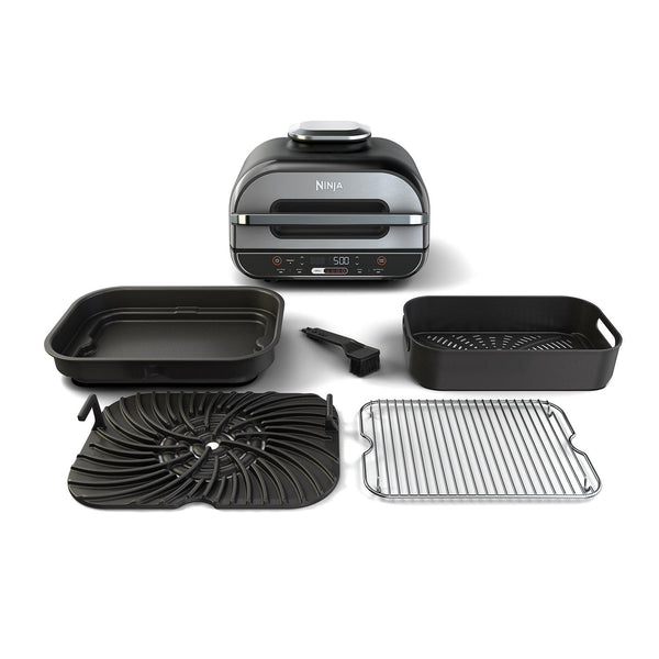 Ninja Foodi XL 5-in-1 Indoor Grill with 4-Quart Air Fryer, Roast, Bake, Dehydrate, BG500A