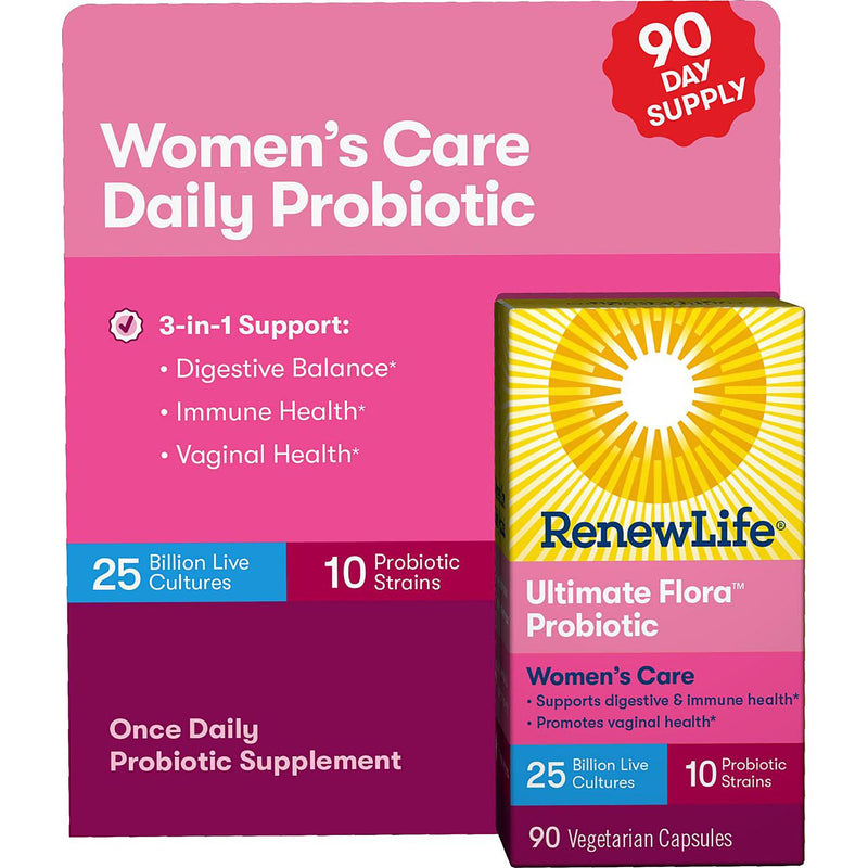 Renew Life Ultimate Flora Probiotic Women's Daily Care, 25 billion (90 vegetable capsules)