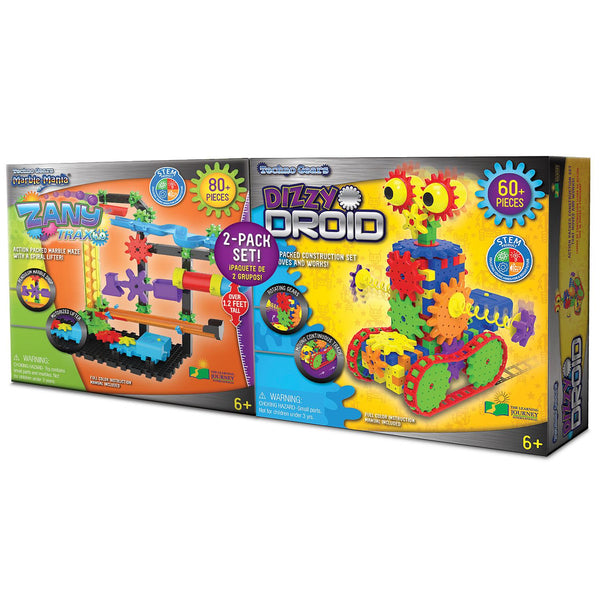 The Learning Journey-Kids Toys-Techno Gears STEM Construction 2 Pack Set - Dizzy Droid & Zany Trax 4.0