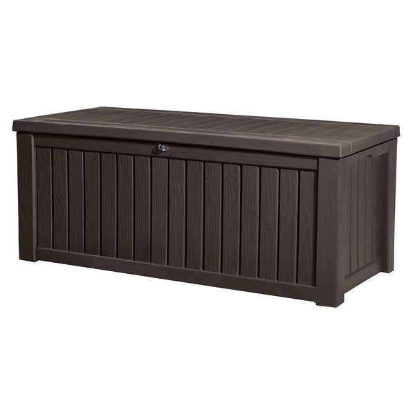 Keter 150 Gallon Outdoor Storage Deck Box (color: Brown)