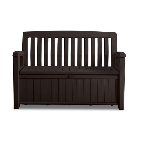 Keter 60-Gallon All-Weather Outdoor Patio Storage Bench (Color : Brown)