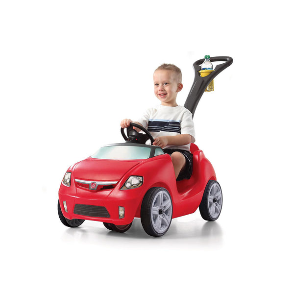 Step2-Kids car-Easy Steer Sportster-1 Seater-Horn-2 cup holders for parent & Kid.