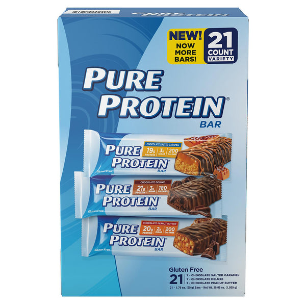 Pure Protein® High Protein Bars, Variety Pack (21 ct.)
