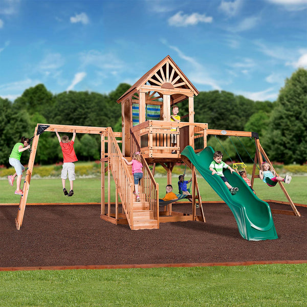 Backyard Discovery Oceanview Cedar Swing Set.