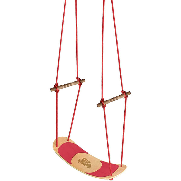 Swingan AirPlank Surfboard Swing With Adjustable Rope - Maple/Red