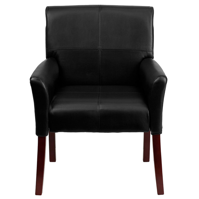 Flash Furniture Leather Executive Reception Chair, Black