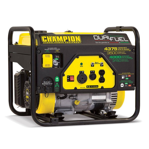 Champion Power Equipment 3500W / 4375W Dual-Fuel Generator With Warranty