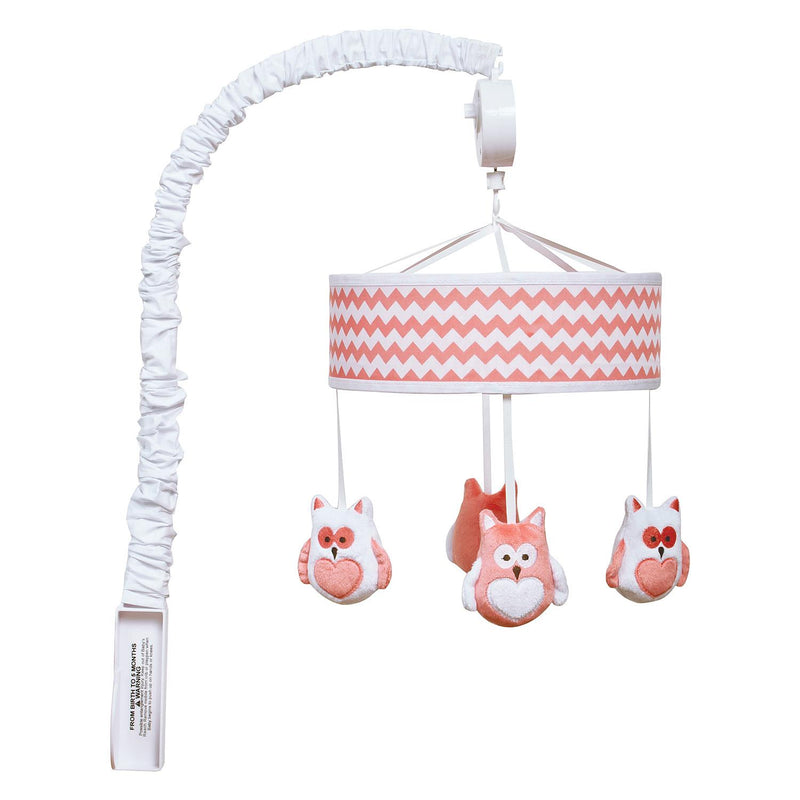 Trend Lab-Baby toys- UniSex-Musical Mobile, Coral Chevron