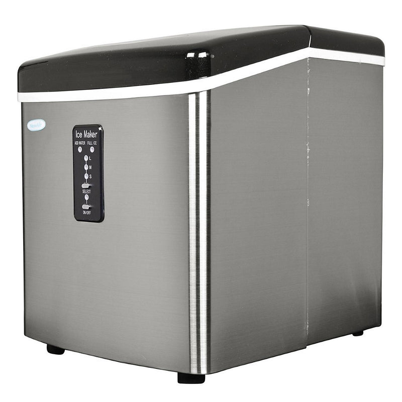 NewAir 28LBS Portable Ice Maker, Stainless Steel