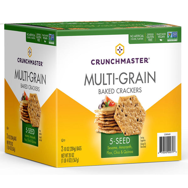 Crunchmaster 5 Seed Multi-Grain Crackers (10oz., 2pk.) (Min 2 per order)