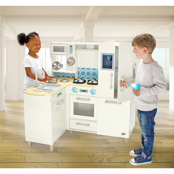 Jupiter Workshops-kids kitchen-Deluxe Wooden Kitchen with sounds&lights Features