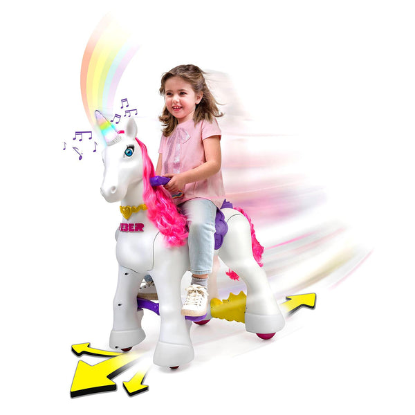 Feber-kids toys-My Lovely Unicorn 12V Powered Ride-On-with Magical horn with lights and sounds