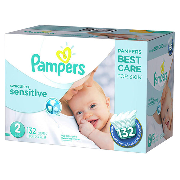 Pampers Swaddlers Sensitive Diapers ( Size 2 )
