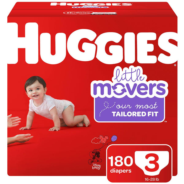 Huggies Little Movers Diapers ( size 3 )