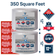 """Bubble wrap 350 ft² (2 Rolls of 175 ft x 12"""" Wide) 3/16"""" Small Bubble - Perforated Every 12''- With 10 Fragile stickers by Fresh Farm LLC"""