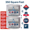 "Bubble wrap 350 ft² (2 Rolls of 175 ft x 12"" Wide) 3/16"" Small Bubble - Perforated Every 12''- With 10 Fragile stickers by Fresh Farm LLC"