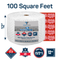 "Bubble wrap 100 ft² 1/2"" Large Bubble- Perforated Every 12''- with 10 Fragile Stickers by Fresh Farm LLC"
