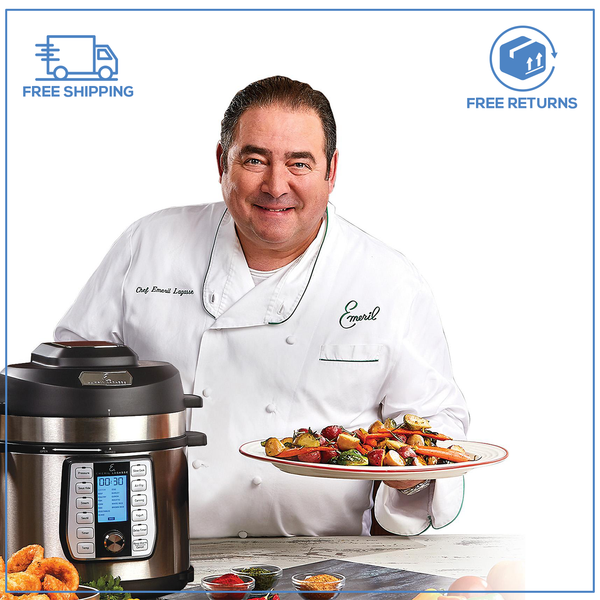 Emeril Lagasse 8-Quart Pressure Air Fryer Duet (9 accessories pack ) Nonstick inner pot