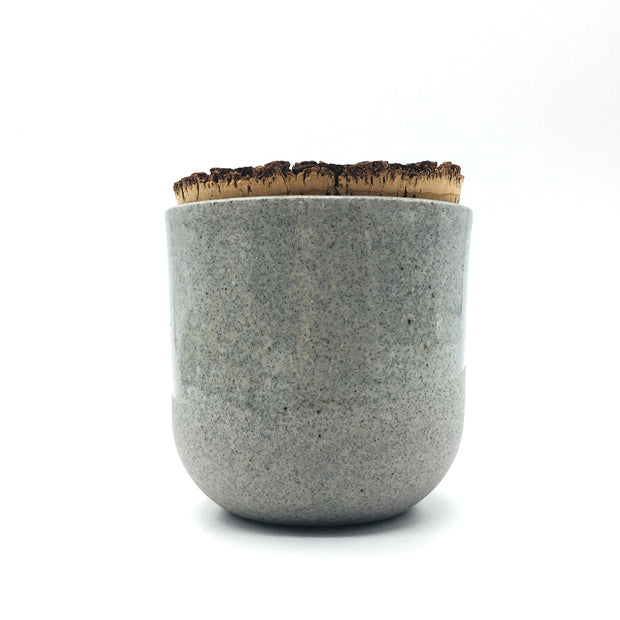 "Alder Canister w/ Bark Top | 3"" x 3"" 
