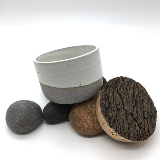 "Alder Canister w/ Bark Top | 4.5"" x 3"" 