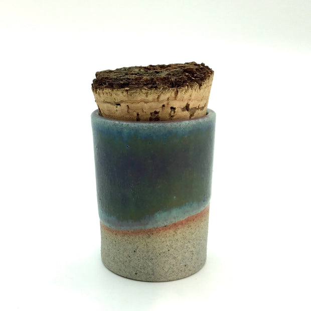 Canister w/ Bark Top | 2 oz | Greystone/Aloha Blue (NOT FOOD SAFE)