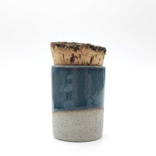 Canister w/ Bark Top | 2 oz | Greystone/Baltic Blue